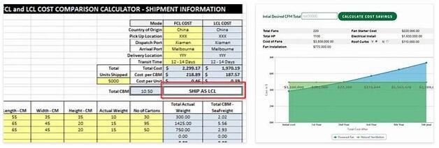 Cost Comparison Calculation